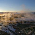 Geysir Fields steam rising