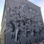 Reykjavik street art of animal characters