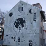 Reykjavik street art of occult art