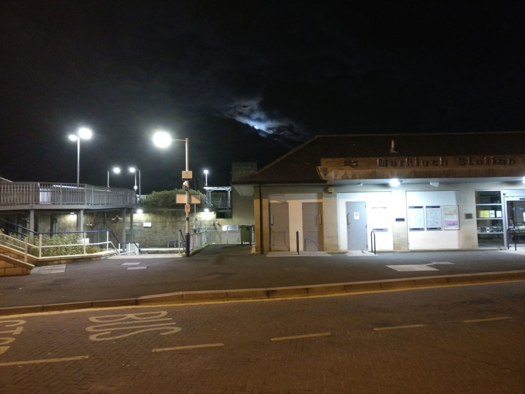Markinch Train Station at night